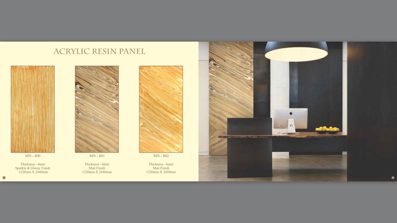 Acrylic Resin Panel-MN-800,801,802